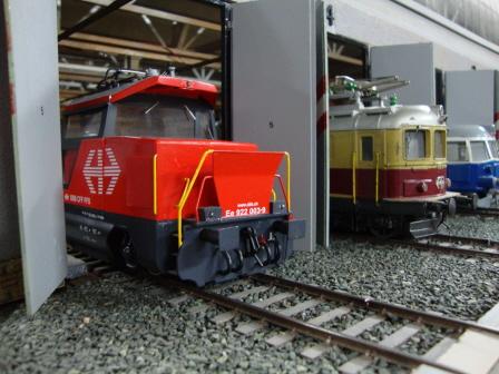 Selbstgebautes Modell der Ee 922 auf der Spur 0-Anlage des Berner Modelleisenbahn-Clubs. Dieses Bild darf jeder frei verwenden.