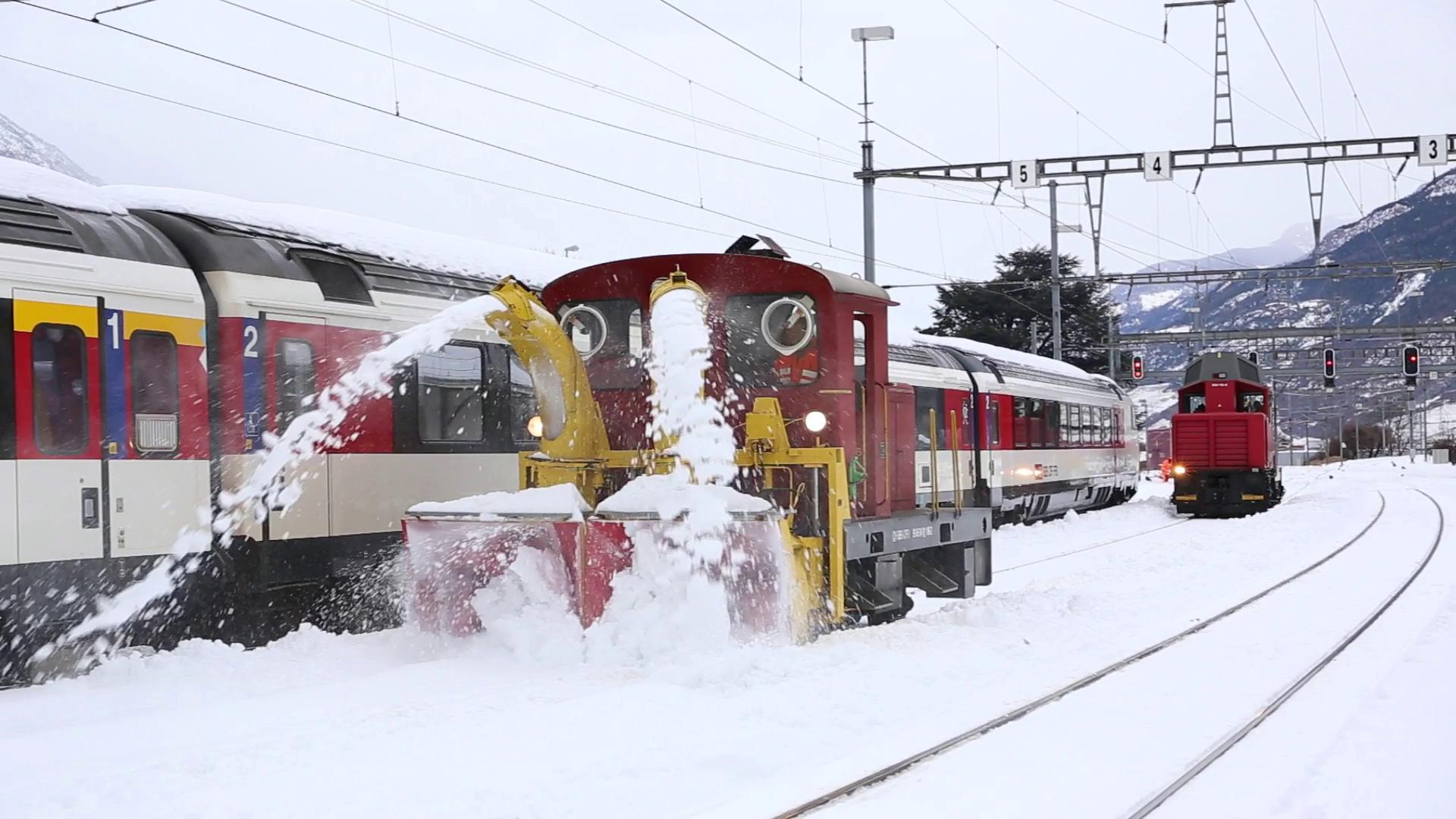La chasse-neige XTm 106 en action à Martigny