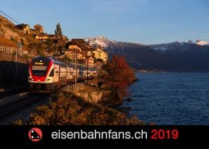 Bahnkalender 2019 - calendrier ferroviaire 2019